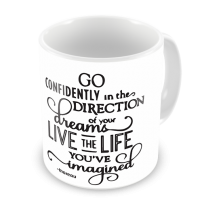 1-Motivational Mug Sample - Go Confidently in the Direction of your dreams