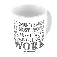 1-Motivational Mug Sample - Opportunity is missed