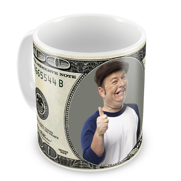 100 Dollar Bill Photo Mug for Colleges