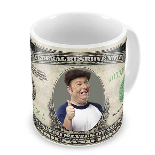 1000 dollar bill photo mug for colleges and corporate events