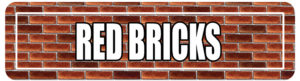 Red Brick Street Signs for college events