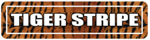 Tiger Stripe Street Signs for colleges