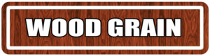 Wood Grain Street Signs for college events