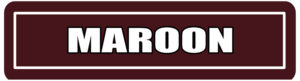 Maroon Street Signs for college events
