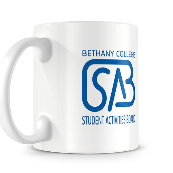 Bethany College SAB Photo Mug - Logo Side