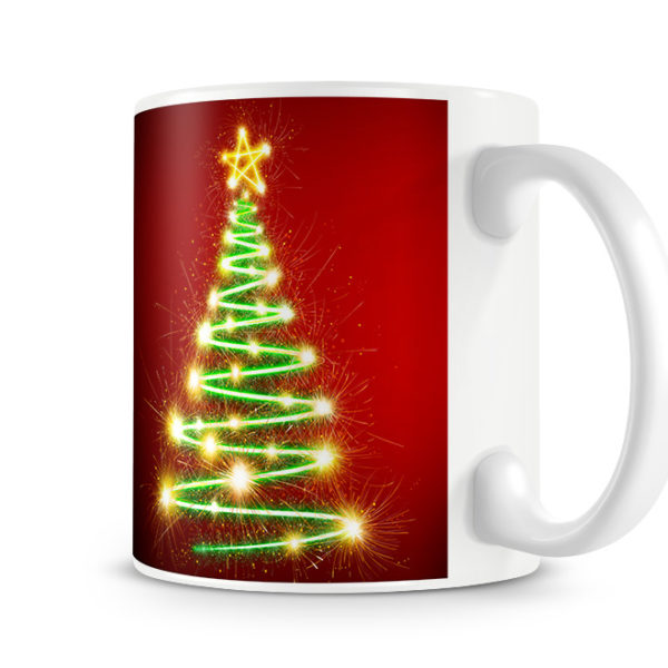 Christmas Tree Photo Mug - Tree Side