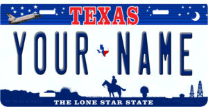 Custom License plates made while you wait