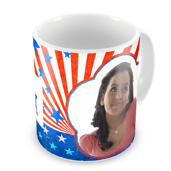 Patriotic Photo Mug - Photo Side