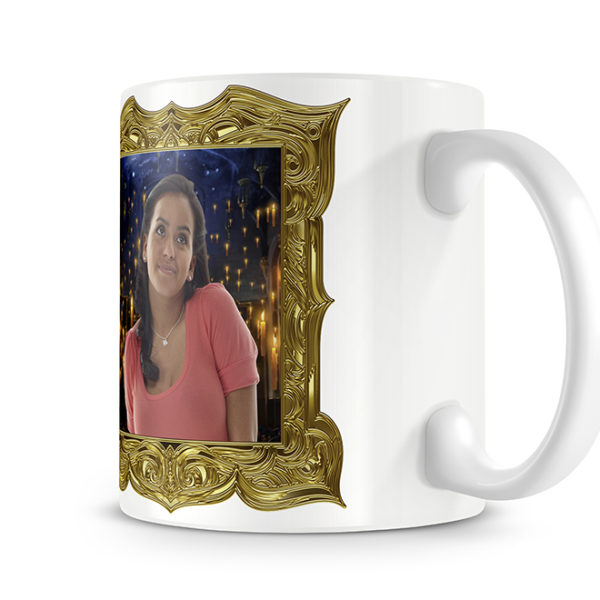 Photo Side of our Photo Mugs. The Frame can be anything!