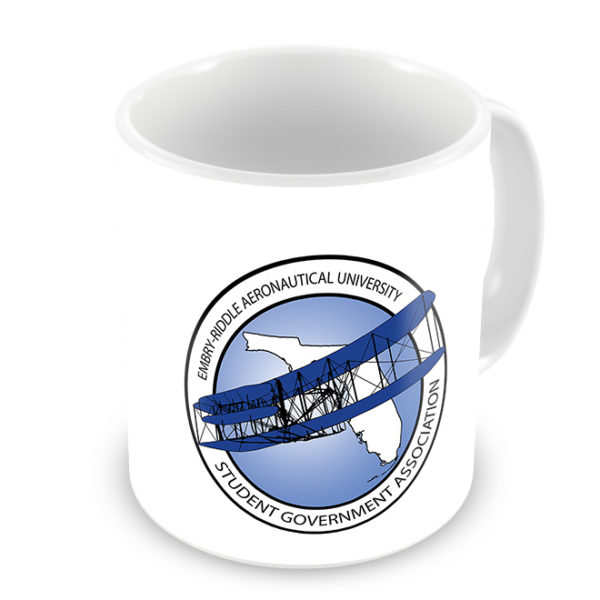 Embry Riddle Aeronautical University Photo Mug - Logo Side