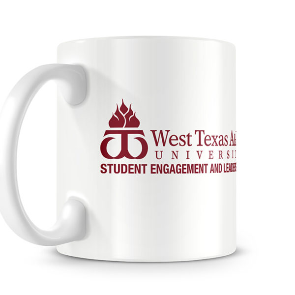 West Texas A&M Student Engagement Photo Mug - Logo Side