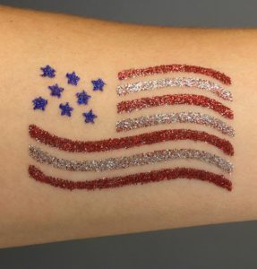 Glitter Tattoo Flag