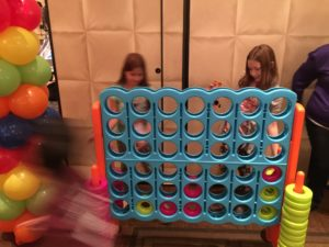 Kids loved the Giant Connect Four Game