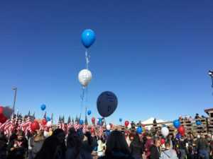 Snowball Express Balloon Release at Walk of Gratitude