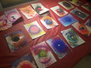 Spin art was popular