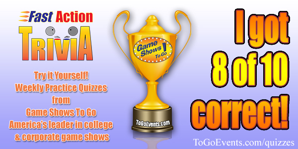 To go events how well would you do on a game show to go events you did great sharpen those buzzer skills and youd do well on a live game show gameshowstogoquiz1 solutioingenieria Images