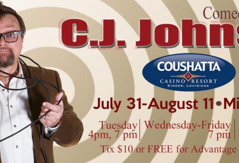 Hypnotist CJ Johnson to be featured at Casino