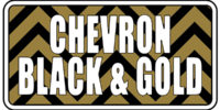 Chevron - Black and Gold