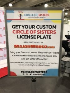 MajorWorld Custom License Plates for trade show