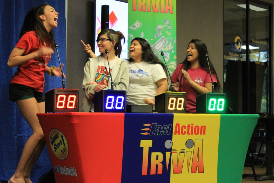Students get excited with Fast Action Trivia