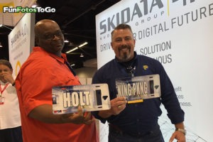 custom license plates at trade show activation