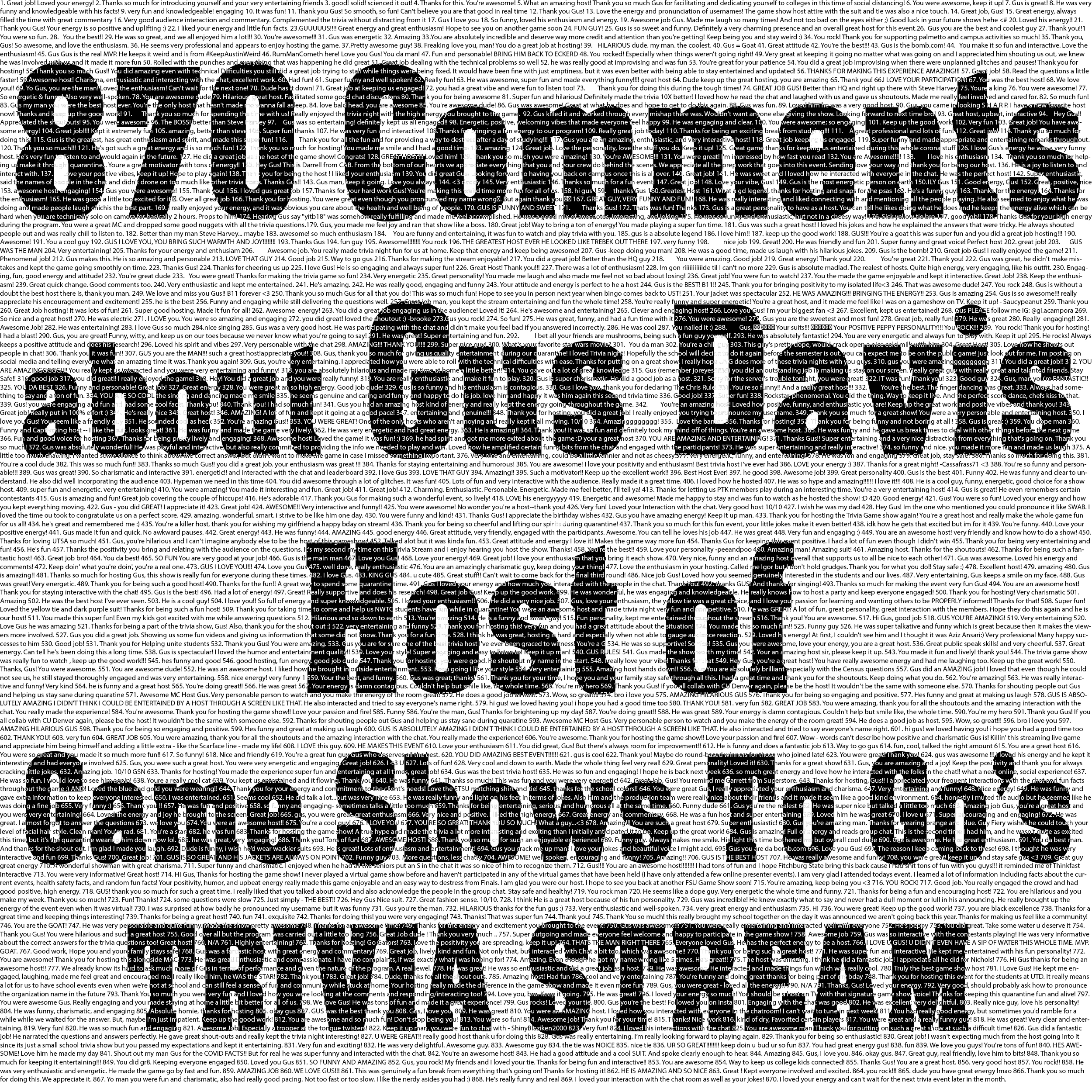 870 comments about Virtual Game Show Host Gus Davis