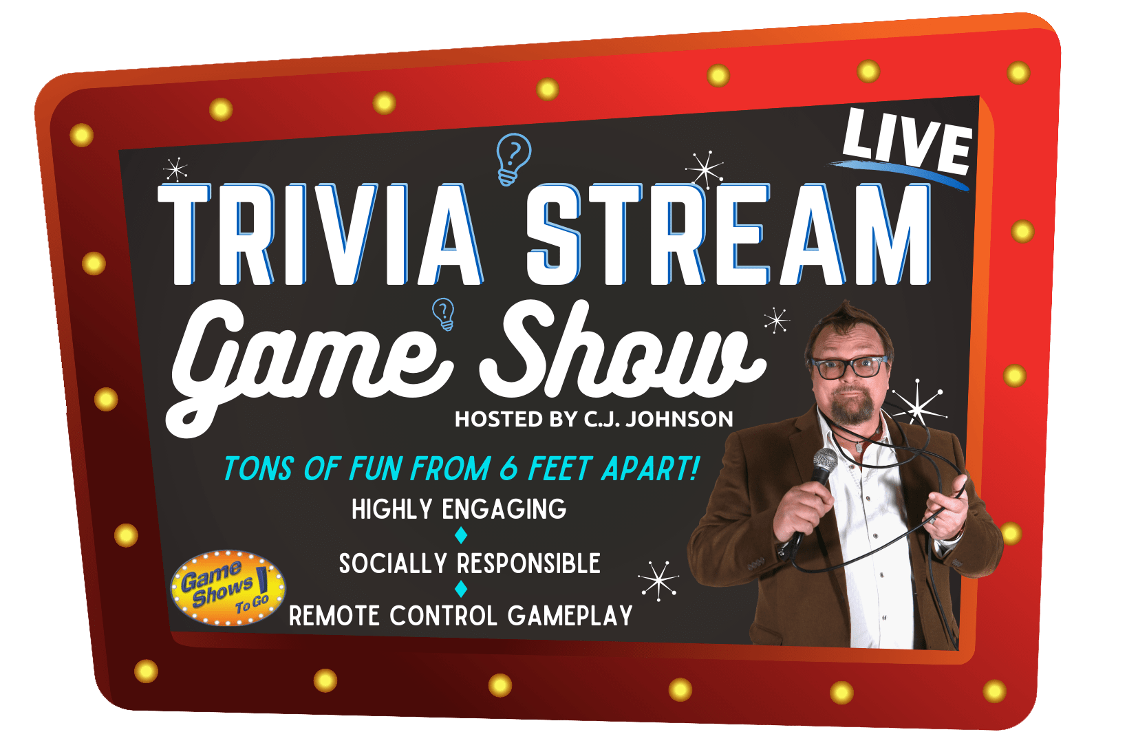 trivia stream LIVE the in person game show event for responsible social distancing