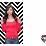 Chevron Custom College Photo Dry Erase Board Sample LG