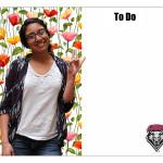 Floral Custom College Photo Dry Erase Board Sample LG