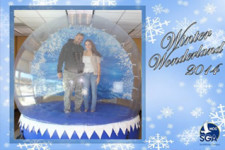 Winter Wonderland Human Snow Globe