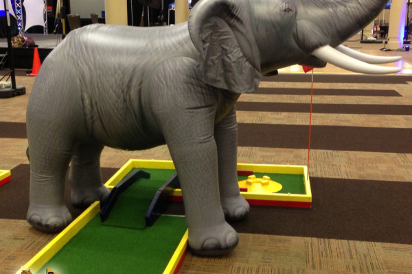 Mini Golf To Go - Elephant Set Up to Play