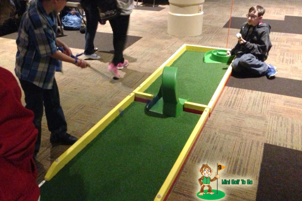 Mini Golf To Go - Loop and Spiral Being Played