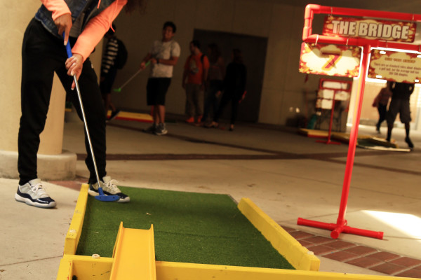 Mini Golf at Community College Event