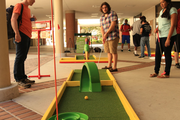 Community college programming mini golf